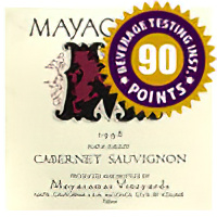 Mayacamas Vineyards 1998 Napa Valley Cabernet Sauvignon
