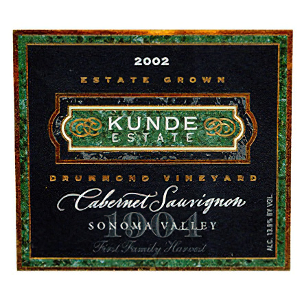 Kunde Family Estate 2002 Sonoma Valley Cabernet Sauvignon