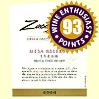 Zaca Mesa Winery & Vineyards 2006 Mesa Reserve Santa Ynez Valley Syrah