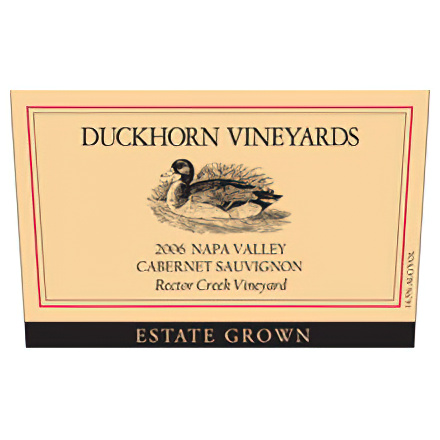Duckhorn Vineyards 2006 Estate Grown, Napa Valley Cabernet Sauvignon, Rector Creek Vineyard