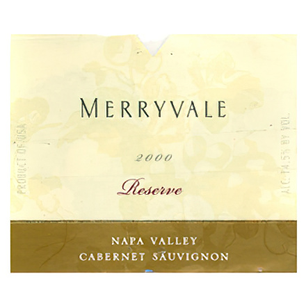 Merryvale Vineyards 2000 Reserve Napa Valley Cabernet Sauvignon