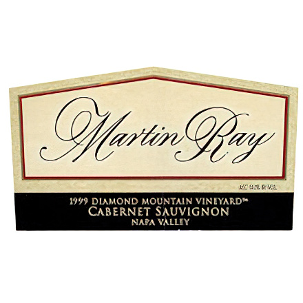 Martin Ray Winery 1999 Diamond Mountain Vyd., Napa Valley Cabernet Sauvignon