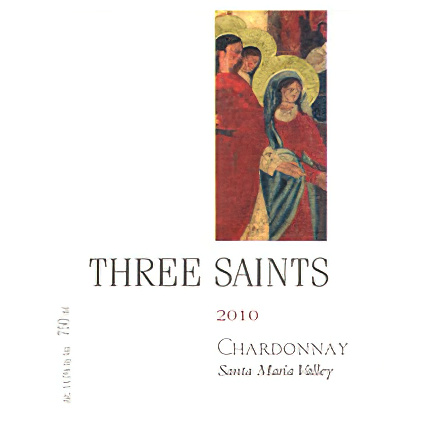 Dierberg Estate Vineyards 2010 Three Saints Santa Maria Vineyards Chardonnay