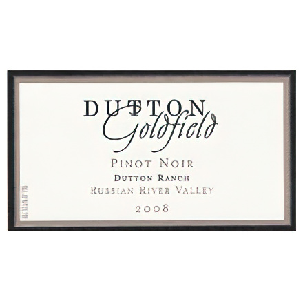 Dutton-Goldfield Winery 2008 Pinot Noir, Dutton Ranch, Russian River Valley