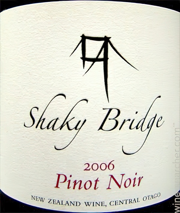 Shaky Bridge Wines 2006 Pioneer Series Pinot Noir, Central Otago