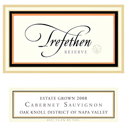Trefethen Family Vineyards 2008 Oak Knoll District Reserve Cabernet Sauvignon