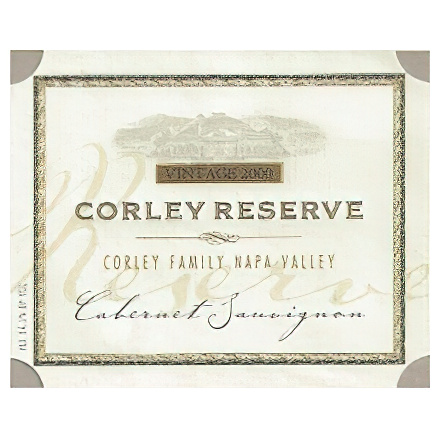 Monticello Vineyards 2000 Corley Reserve Napa Valley Cabernet Sauvignon