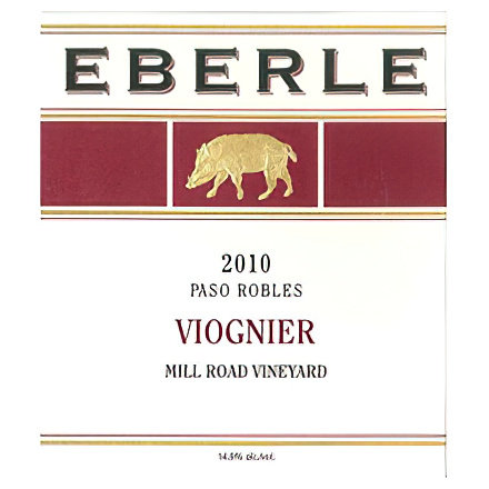 Eberle Winery 2010 Mill Road Vineyard, Paso Robles Viognier