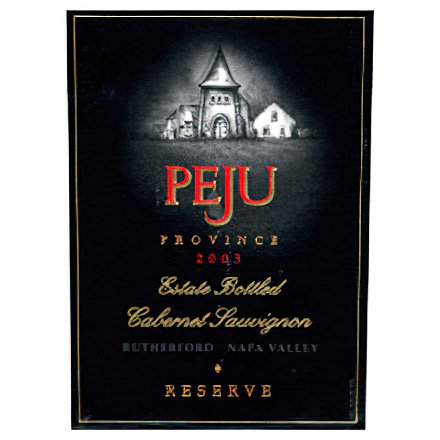 Peju Province Winery 2003 Estate Bottled Cabernet Sauvignon, Rutherford, Napa Valley