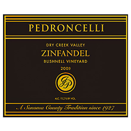 Pedroncelli Winery & Vineyards 2009 Dry Creek Valley, Bushnell Vineyard Zinfandel