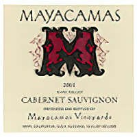 Mayacamas Vineyards 2001  Mt. Veeder, Napa Valley Cabernet Sauvignon