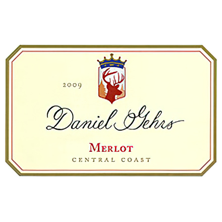 Daniel Gehrs Wines 2009 Central Coast Merlot