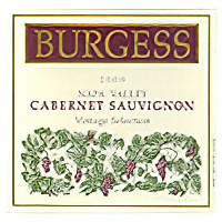 Burgess Cellars 2000 Vintage Selection Napa Valley Cabernet Sauvignon