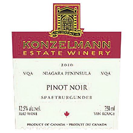 Konzelmann Estate Winery 2010 Pinot Noir