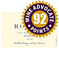 Rusack Vineyards 2010 Reserve, Ballard Lane Canyon Estate, Santa Barbara County Syrah