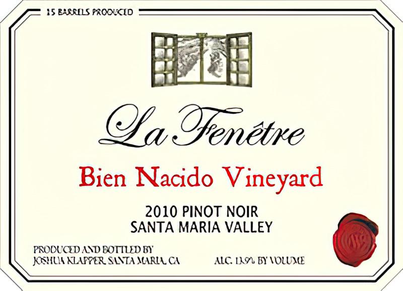 La fen tre wines 2010 bien nacido vineyard santa maria for La fenetre chardonnay