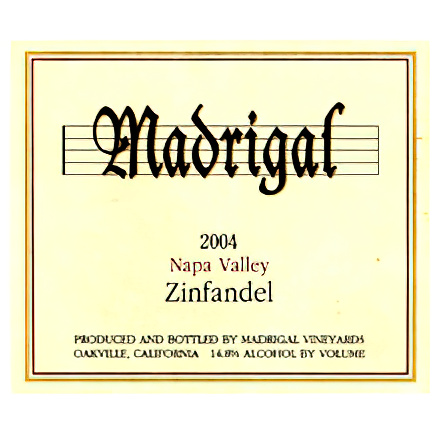 Madrigal Vineyards 2004 Napa Valley Zinfandel