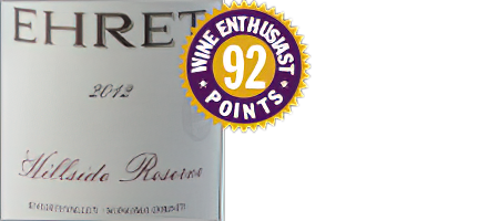Image of Ehret Family Winery 2012 Hillside Reserve Knights Valley Sonoma County Cabernet Sauvignon