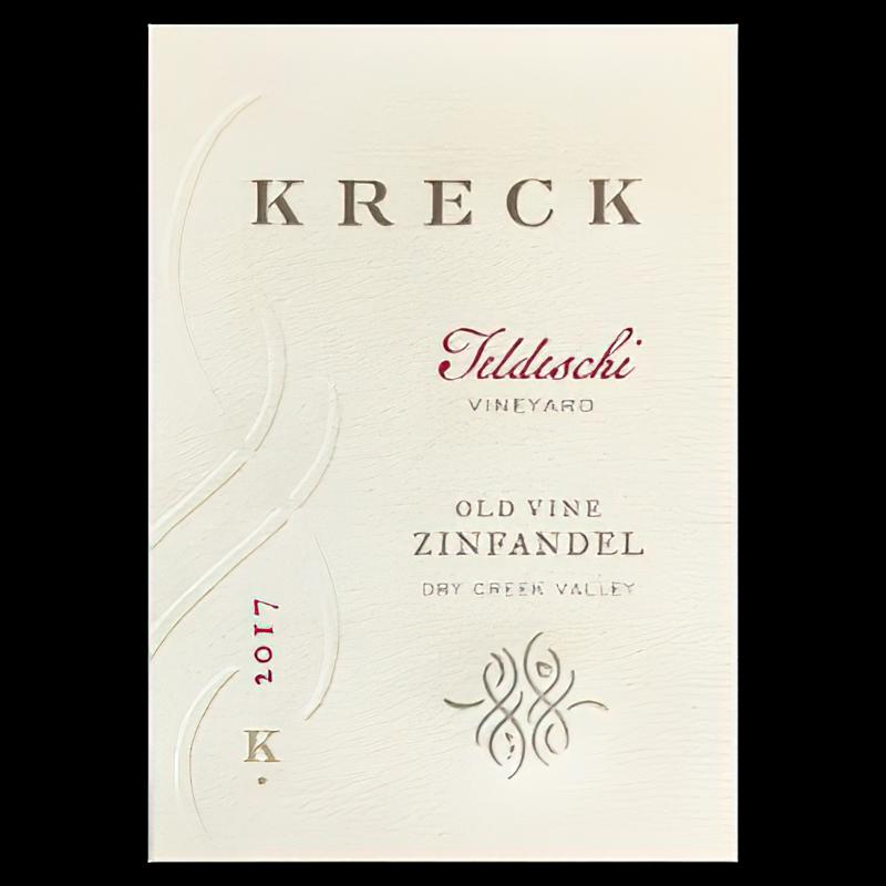 Kreck Wines 2017 Teldeschi Vineyard Dry Creek Valley Sonoma County Old Vine Zinfandel