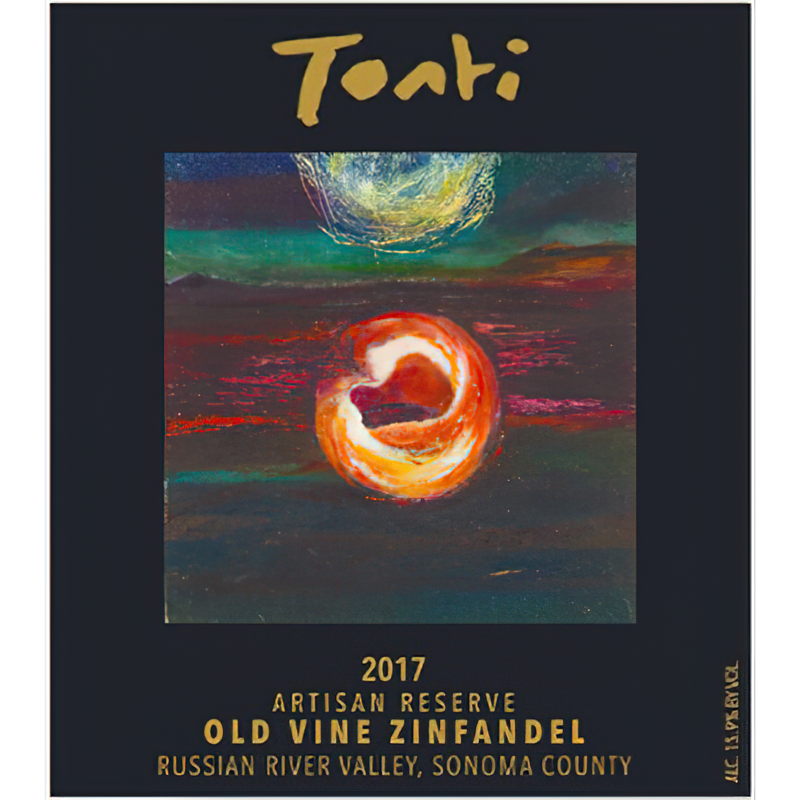 Tonti Family Wines 2017 Artisan Reserve Russian River Valley Old Vine Zinfandel