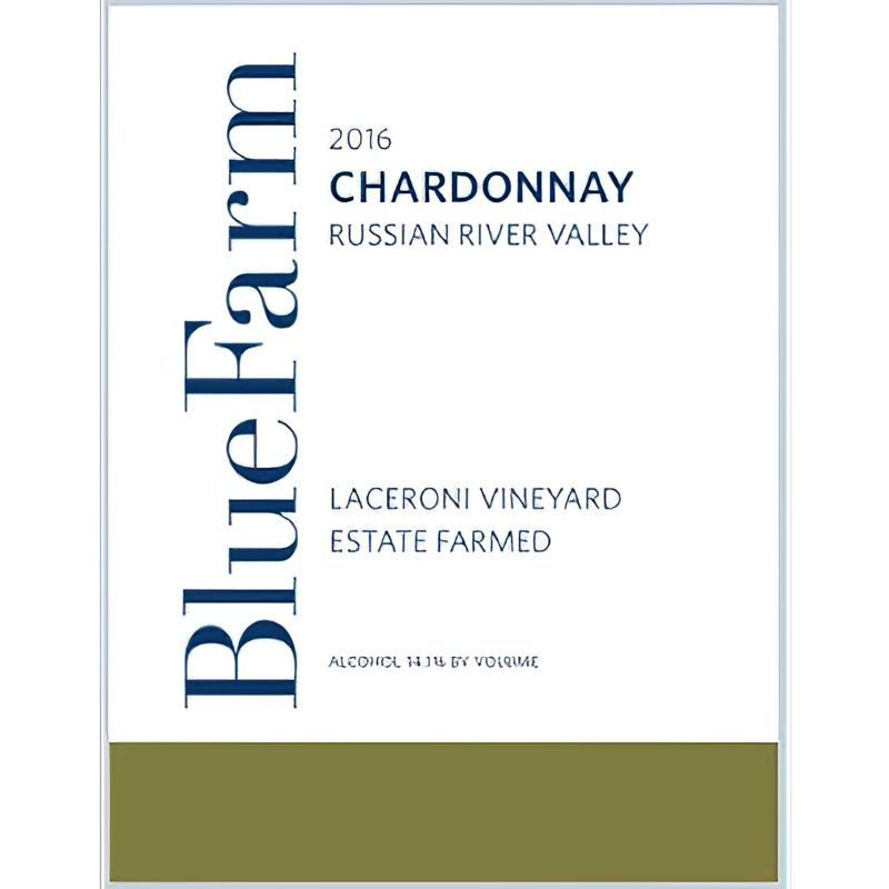 Blue Farm Wines 2016 Laceroni Vineyard Russian River Valley Chardonnay