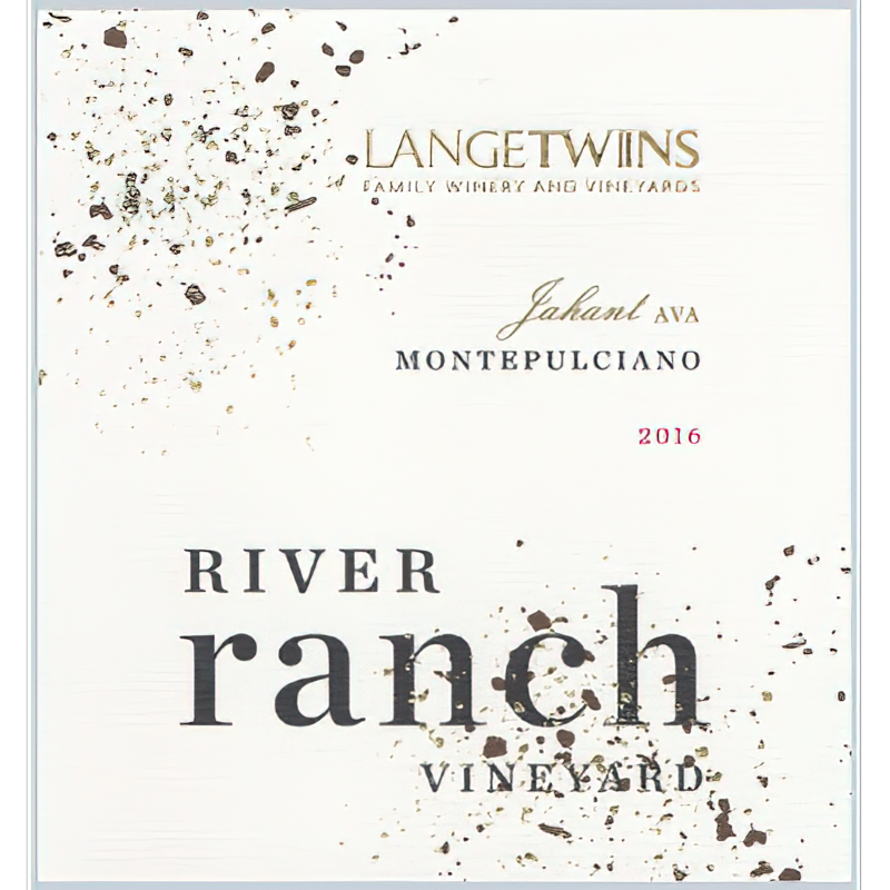 LangeTwins Family Winery Vineyards 2016 River Ranch Vineyard Lodi Montepulciano