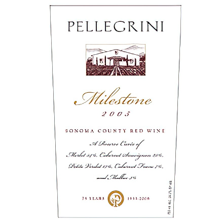 Pellegrini Family Vineyards 2005 Milestone Sonoma County Red Wine