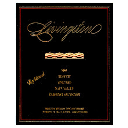 Livingston-Moffett Winery 1992 Moffett Vineyards Napa Valley Cabernet Sauvignon