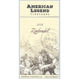 American Legend Vineyards by CG di Arie 2014 Sierra Foothills Zinfandel