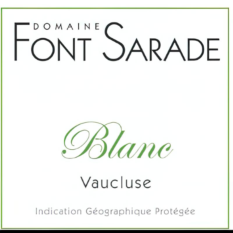 Domaine Font Sarade 2018 IGP Blanc Vaucluse Viognier