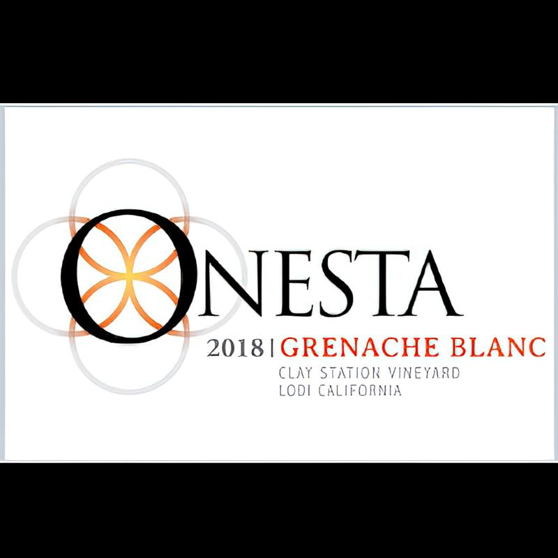 Onesta Wines 2018 Clay Station Vineyard Lodi Grenache Blanc