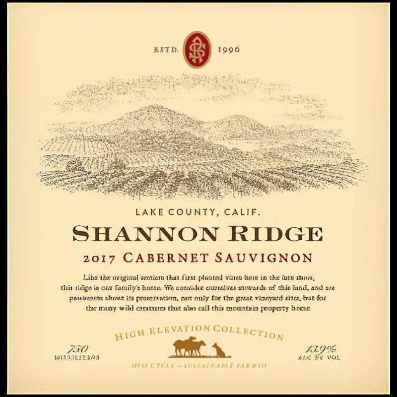 Shannon Ridge Winery 2017 Lake County High Elevation Collection Cabernet Sauvignon