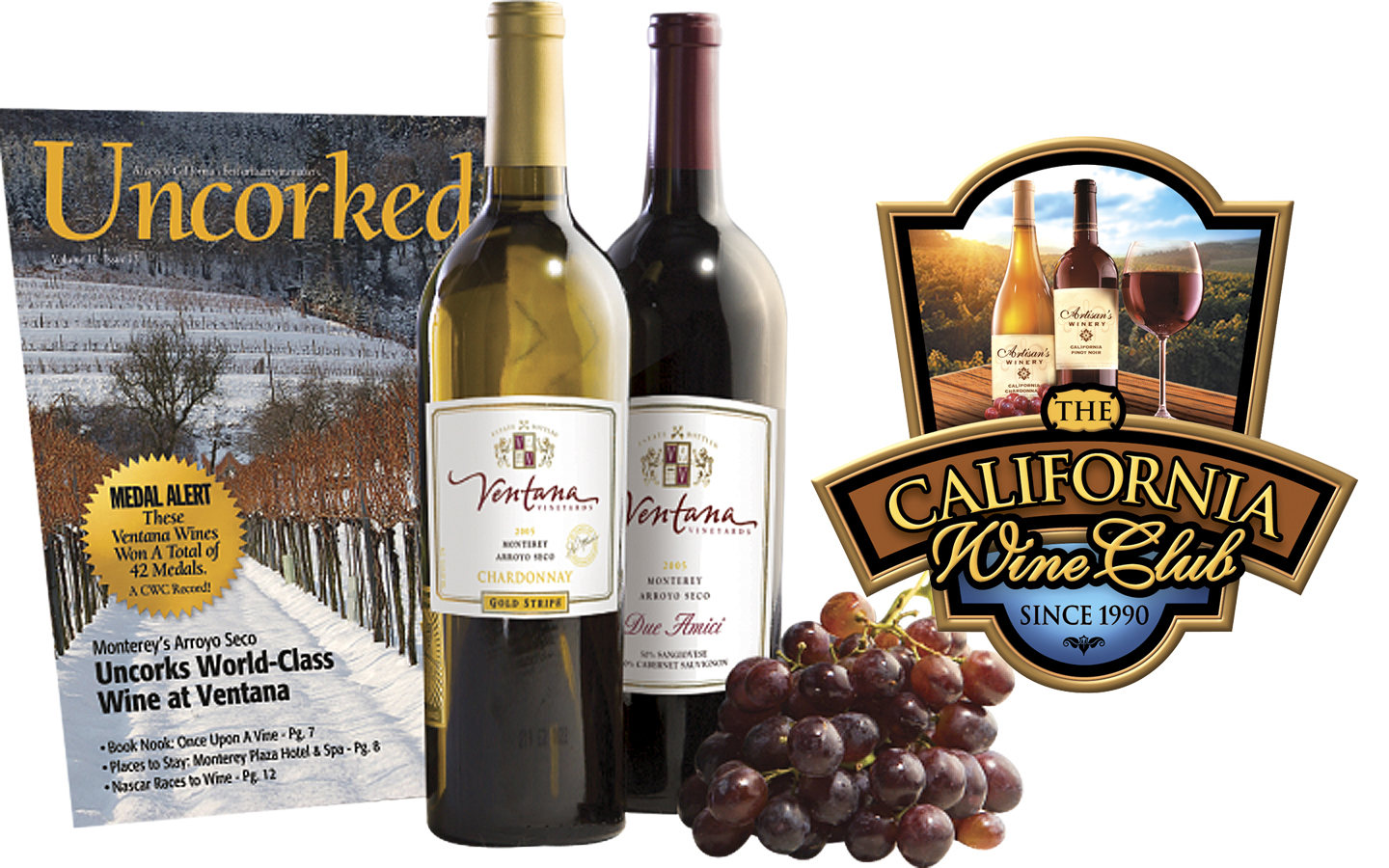 The California Wine Club One Month Premier Series Gift